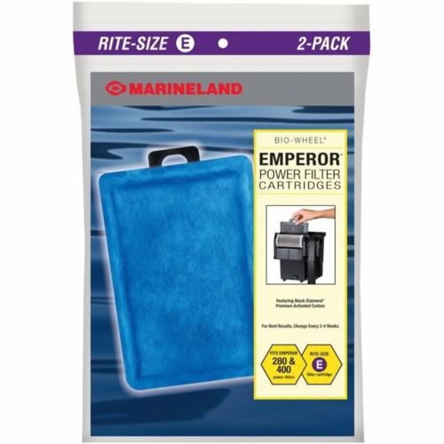 FREE SHIPPING TO THE USA MARINELAND CARTRIDGE ECLIPSE RITE SIZE E FILTER 2 PACK