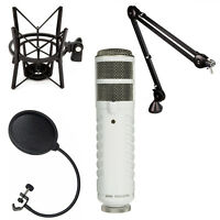 Rode Podcaster Usb Mic Booming Kit W/ Psa1 Arm, Psm1 Shock Mount & Pop Filter