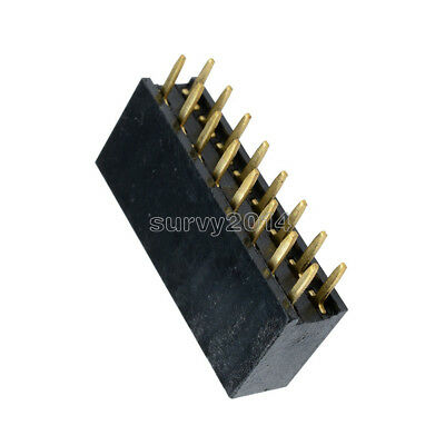 100PCS 2X5 Pin 10P 2.54mm Double Row Female Straight Header Pin Strip J3