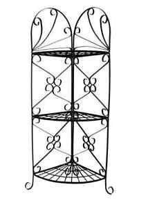 Angolo portafiori in ferro battuto angoliera vaso fiori for Arredo giardino ferro battuto