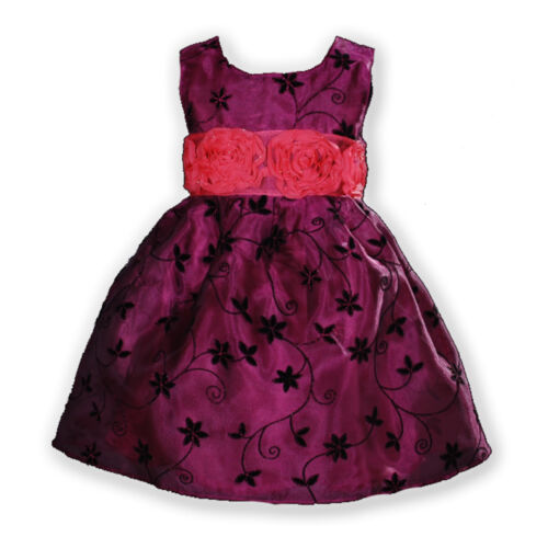 New Flower Girl Party Bridesmaid Pageant Dress in Hot Pink,Pink 12M to 5 Years