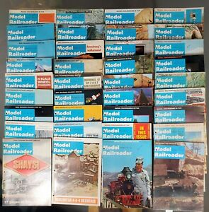 Lot-36-Vintage-Model-Railroader-Magazines-Complete-Years-1969-1970-1971