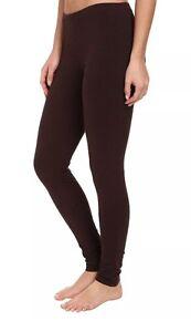 Hue Women/'s Cotton Stretch Solid Espresso Brown EDV Leggings S