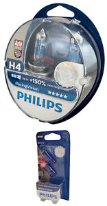 H4-PHILIPS-Racing-Vision-150-X-treme-12V-60-55W-P43t-2er-Set-W5W-12342RVS2