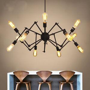 Vintage Diy Spider Chandelier Industrial Ceiling Light Mid Century