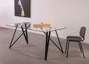 Esstisch Gaia 160x90 cm Glas Tischplatte 10mm Stahl Tischgestell ...