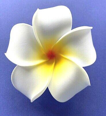 3.5 Inch Hawaiian Plumeria Flower Hair Clip Foam Hair Accessory for Beach Party