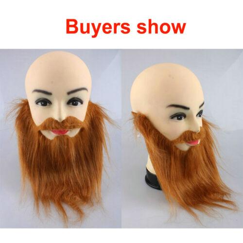 Fake Beard Moustache Wig Fancy Dress Facial Hair Halloween Costume Prom Props