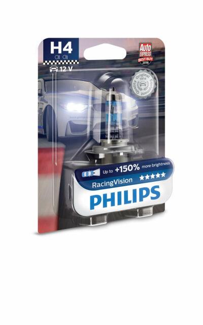 H4 12V 60/55W P43t Carreras Visión +150% 1st. Ampolla Philips