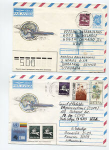 Group of 6 early 1990s Lithuania covers [L.172]