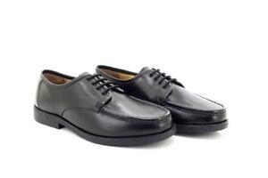 Mens Lucini Black Italian Leather Lace