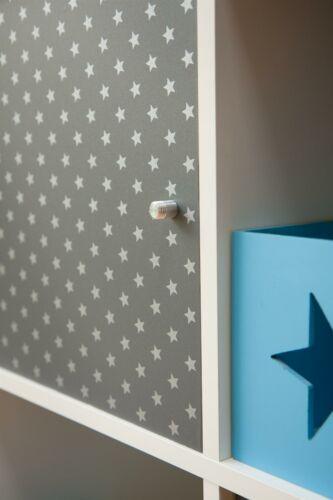 D-C-Fix Stars Grey White Self Adhesive Film Vinyl 2m x 45cm Children/'s Kid/'s