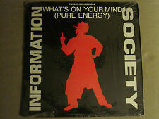 """INFORMATION SOCIETY WHAT'S ON YOUR MIND (PURE ENERGY) 12"""" ORIG '88 NM IN SHRINK!"""