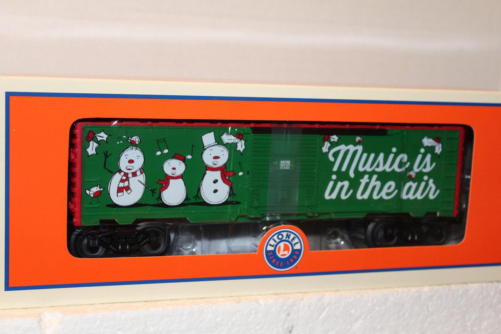 LIONEL LIONEL LIONEL  84748 CHRISTMAS MUSIC BOXCAR b467d1