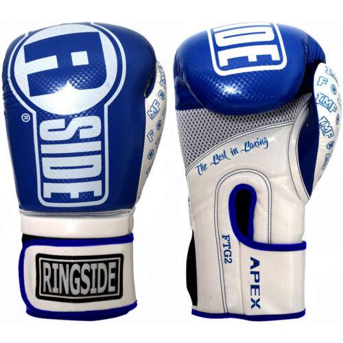Blue Ringside Apex Flash Hook and Loop Sparring Boxing Gloves