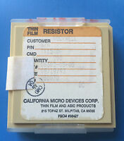 Tx1500f California Micro Devices Resistor Thin Film Asic 200/units Total