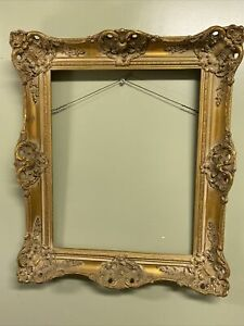 Antique-Gold-Gesso-Ornate-Victoria-Baroque-Wood-Frame-Fits-Pictures-20-x-16