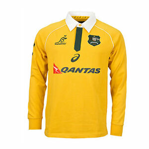 b395bf7273c Image is loading RUGBY-Wallabies-2016-Mens-Traditional-Long-Sleeve-Jersey-