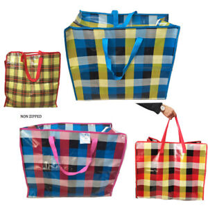Reusable-Laundry-Bags-Shopping-Foldable-Zip-Large-Storage-Shopping-Heavy-Duty-XL