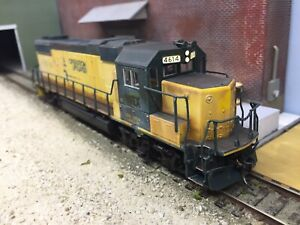 Custom-weathered-Atlas-HO-GP38-2-DCC-Locomotive-NREX-Leaser-Patched-Out-Ex-CNW