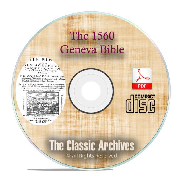 Vintage Breeches Bible Study with Apocrypha CD PDF F31 The 1560 Geneva Bible