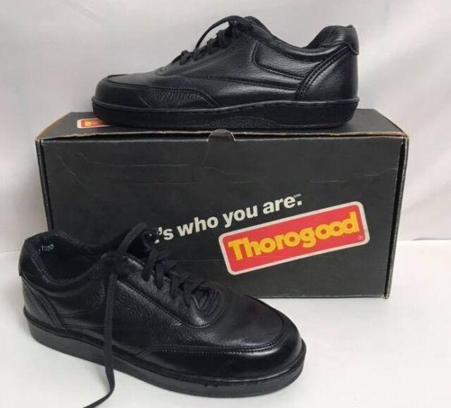b470b541735 NWB THOROGOOD Men's Shoes Black Leather Code 3 Oxford Postal Uniform  834-6333