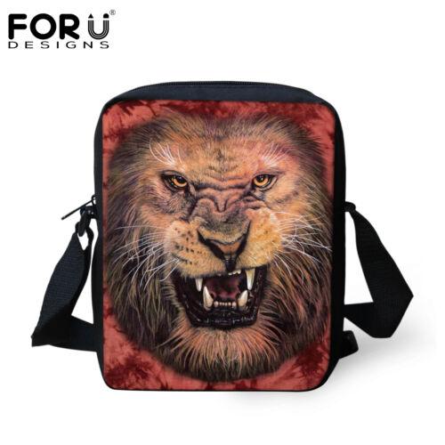 Animal Leopard,Tiger Shoulder Bag Men Women Casual Messenger Cross Body Purse