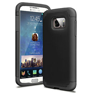 Hybrid-Rugged-Rubber-Shockproof-Case-Armor-Cover-For-Samsung-Galaxy-S7-Black