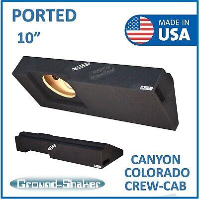 """Single sealed sub box Ground-shaker Gmc Canyon Crew-cab 2015-2018 10/"""" Sub box"""