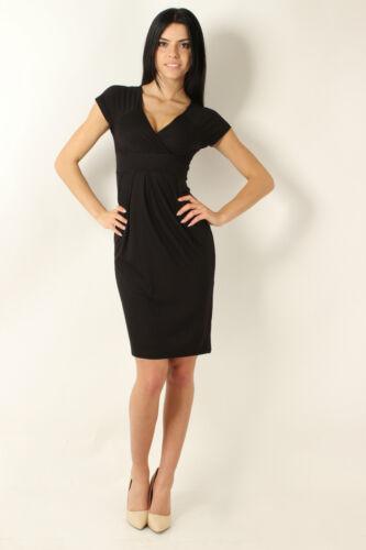 NEW Elegant /& Trendy Women/'s Dress Short Sleeve Tunic V Neck Size 8-12 0177