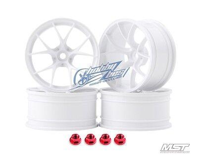 MST White RID RC 1/10 Drift Car Wheels offset 8 (4 PCS) 102057W New