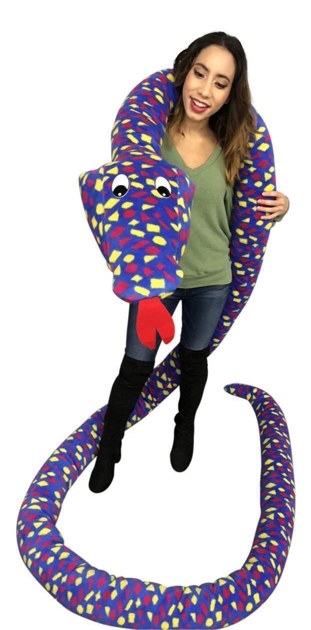 Big Plush 18 Foot Giant Stuffed Snake 216 Inches Soft Polka Dot blu giallo  rosso