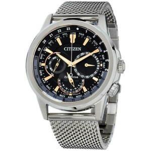 Citizen Calendrier World Time Eco-Drive Black Dial Men's Watch BU2020-70E New