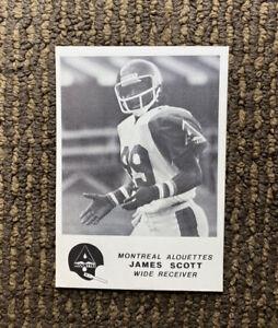 1981 Jogo CFL #14 James Scott Montreal Alouettes Henderson RARE Rookie Card
