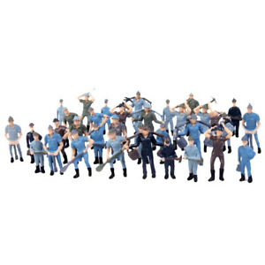 50pcs-pack-HO-scale-1-42-Model-Train-Layout-Painted-Figures-Railway-Workers