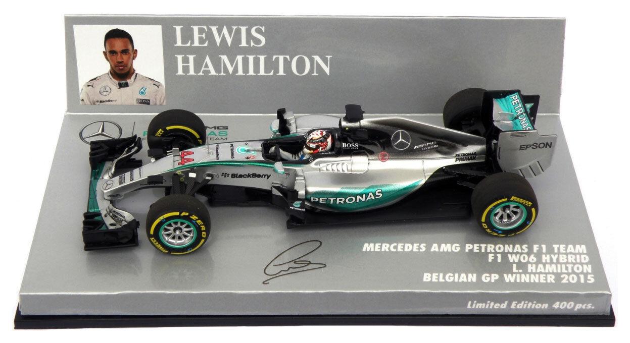 Minichamps Mercedes W06 Belgian GP Winner 2015 - Lewis Hamilton 1 43 Scale