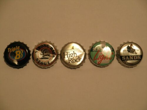 Lot of 3 Bahamas Bottle Caps Tops Used Beer /& Malt Drink Manufactured in Bahamas