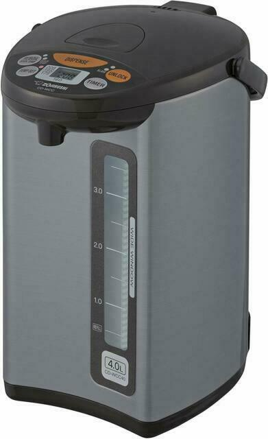 Zojirushi CD-WCC40 Micom Water Boiler & Warmer, Silver 135 o