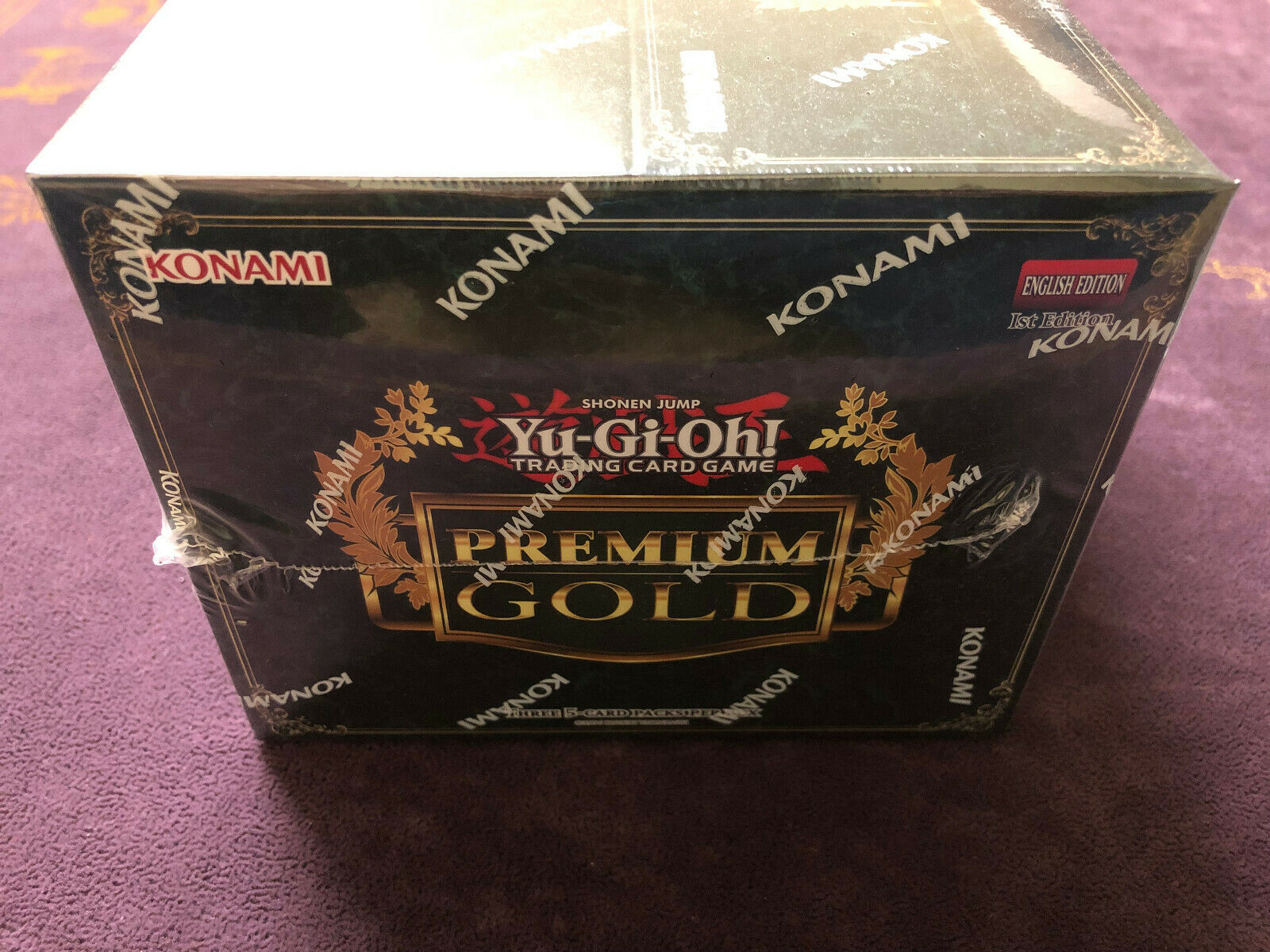 1x YuGiOh  Premium gold King of Bling BOOSTER BOX  1st EDITION  FACTORY SEALED