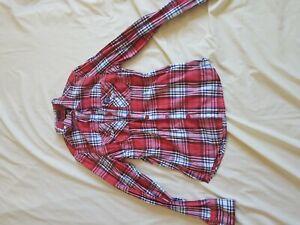 Femmes-SUPERDRY-carreaux-rouges-Chemise-a-manches-longues-taille-M-12