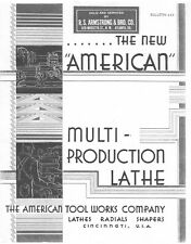 1933 American Multi Production Pacemaker Lathe Radials Shapers Brochure 445