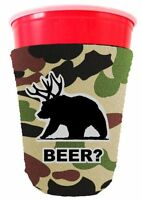 Beer Bear Funny Pint Glass/party Cup Coolie, Choice Of Colors