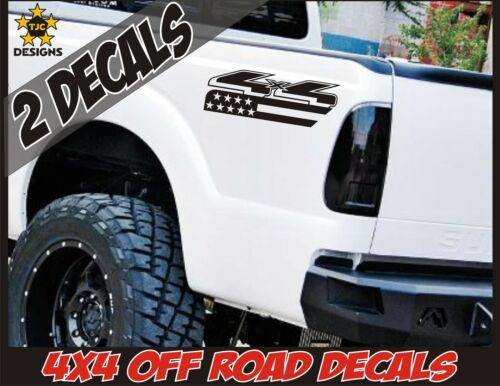 Ranger 4x4 Truck Bed Decals MATTE BLACK Set for Ford F150 Super Duty F-250