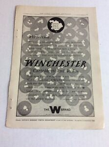 1913 MAGAZINE AD #A3-152- Winchester Cartridges And Rifles