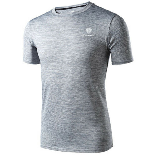 Men Boys Breathable Quick Dry T Shirt Wicking Training Gym Tops Sport Tee Blouse