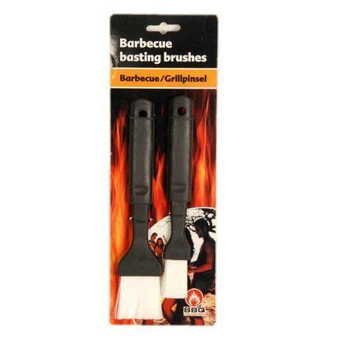 Professional BBQ Basting Brush Baking Oil Brush Black Handle No Drip Design