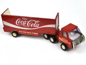 Vintage-Coca-Cola-Coke-USA-Buddy-L-Camion-Furgone-Laster-Camion-L