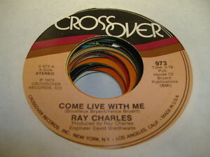 Soul-45-RAY-CHARLES-Come-Love-With-Me-on-Crossover