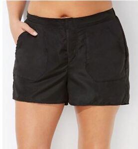 Swimsuit-BLACK-Swim-SHORTS-Pockets-Chlorine-Resistant-PLUS-SIZE-20-22-24-26-W