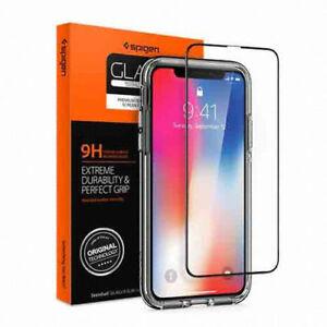 SPIGEN-Apple-iPhone-X-Premium-Full-Cover-Tempered-Glass-FILM-1PCS-Tracking